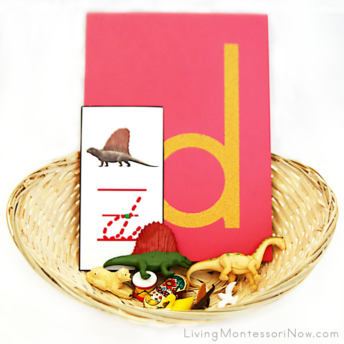 Letter D Object Basket