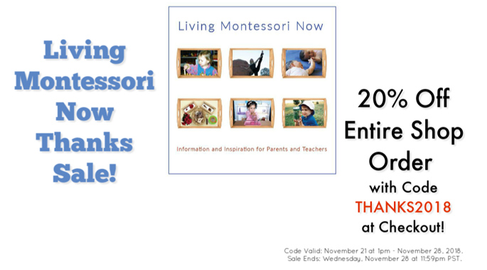 Living Montessori Now THANKS2018 Sale!