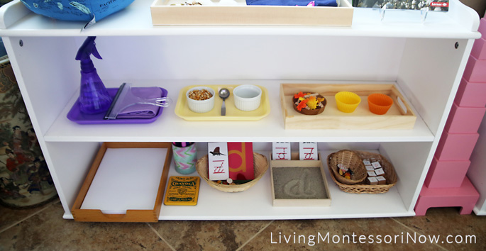 How To Prepare Montessori Shelves For A 3 Year Old Living