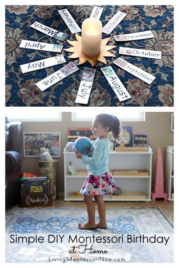 Simple DIY Montessori Birthday at Home
