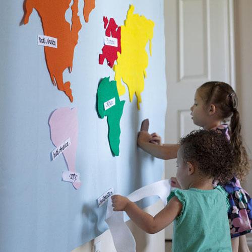 Montessori Felt Map from EmIsCrafty on Etsy