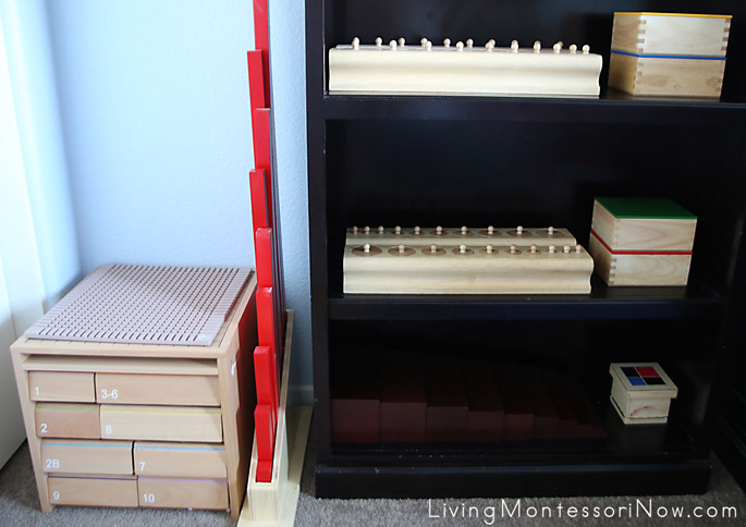 Montessori Material Shelves for a 3 Year Old