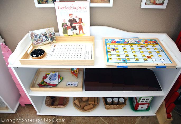 Montessori Sensorial, Math, and Movement Shelves