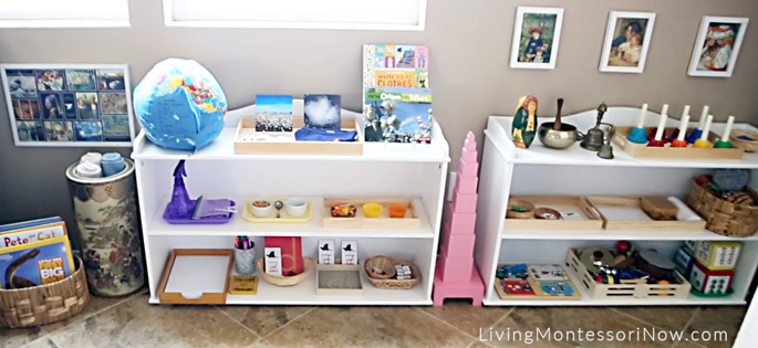 Montessori Shelves for a 3 Year Old