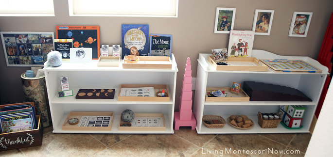 Montessori Shelves for a 4 Year Old