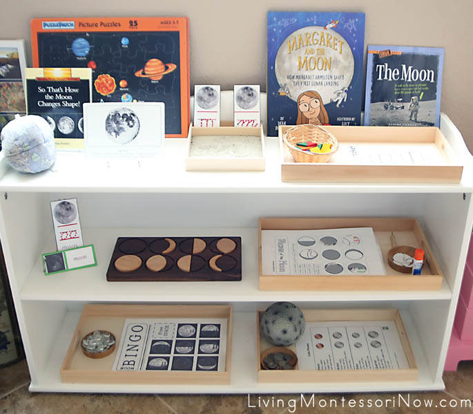 Montessori Themed Shelves for a 4 Year Old