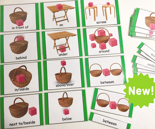 Prepositions - Montessori 3-Part Cards from TheLaminatrix on Etsy