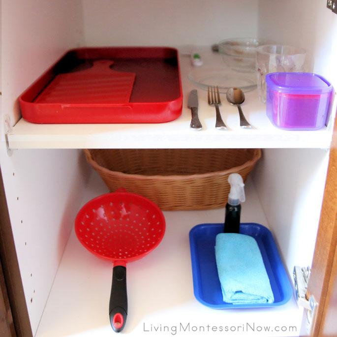 Montessori Snack Cupboard for a Preschooler