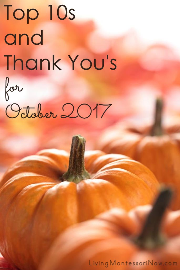 Top 10s and Thank You's for October 2017