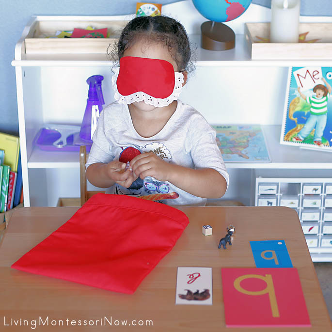 Using the Letter B Mystery Bag and Blindfold to Identify Objectss Starting with the /b/ Sound