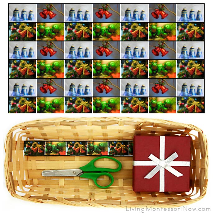 Christmas Bell Cutting Strips with Basket