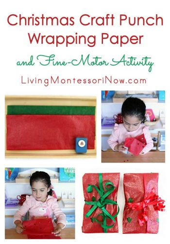 Christmas Craft Punch Wrapping Paper and Fine-Motor Activity
