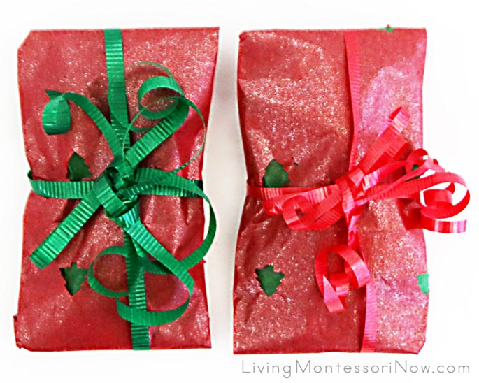 Christmas Craft-Punch Wrapping Paper