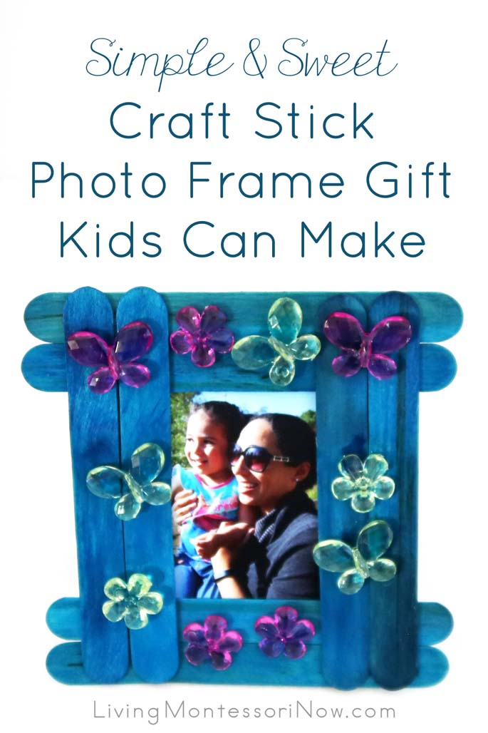 Craft Stick Photo frame Gift Kids Can Make