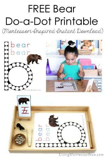 Free Bear Do-a-Dot Printable