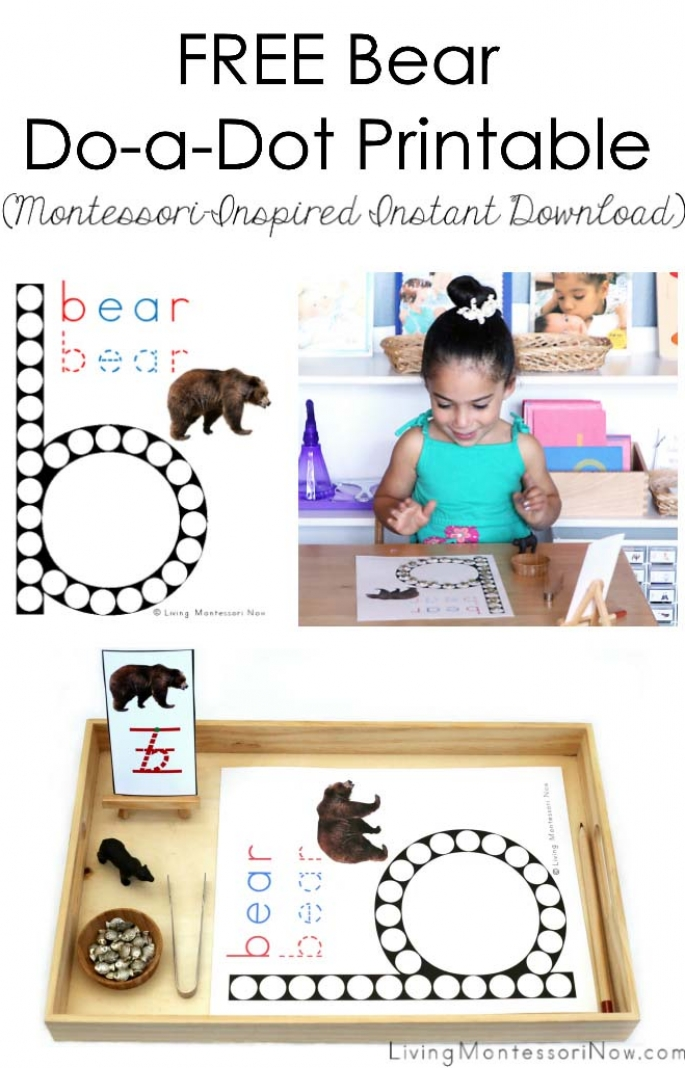 FREE Bear Do-a-Dot Printable (Montessori-Inspired Instant Download)