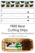 FREE Bear Cutting Strips (Montessori-Inspired Instant Download)
