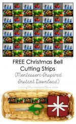 Free Christmas Bell Cutting Strips (Montessori-Inspired Instant Download) – Montessori Monday