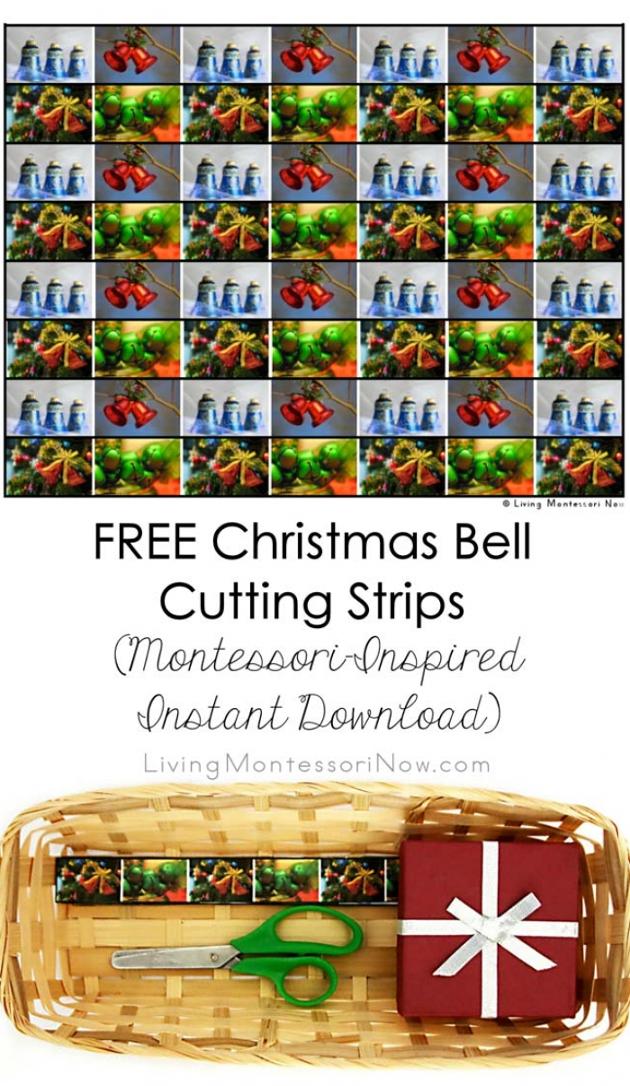 FREE Christmas Bell Cutting Strips (Montessori-Inspired Instant Download)