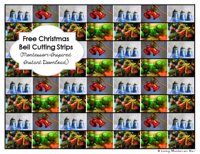 Free Christmas Bell Cutting Strips
