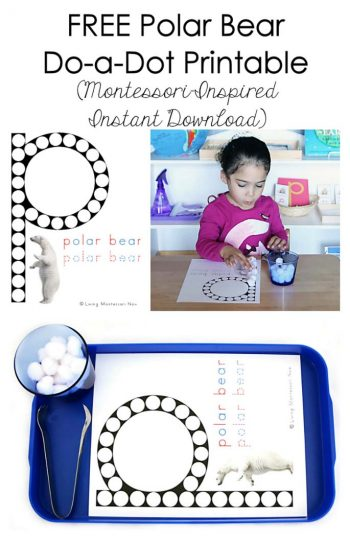 Free Polar Bear Do-a-Dot Printable (Montessori-Inspired Instant Download)