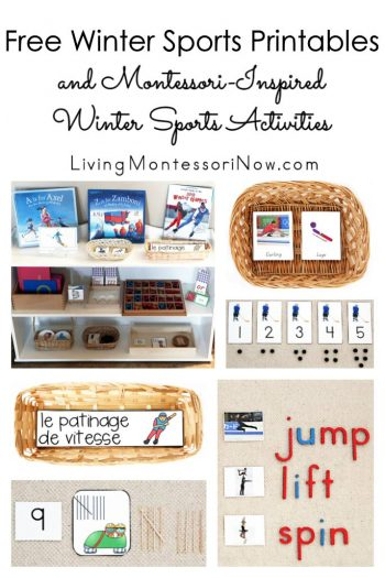 Free Winter Sports Printables and Montessori-Inspired Winter Sports Activities