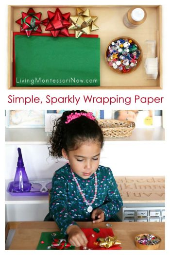 Simple, Sparkly Wrapping Paper