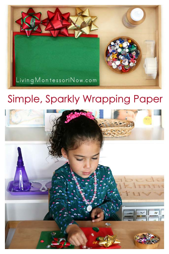 How to Make Simple, Sparkly Wrapping Paper