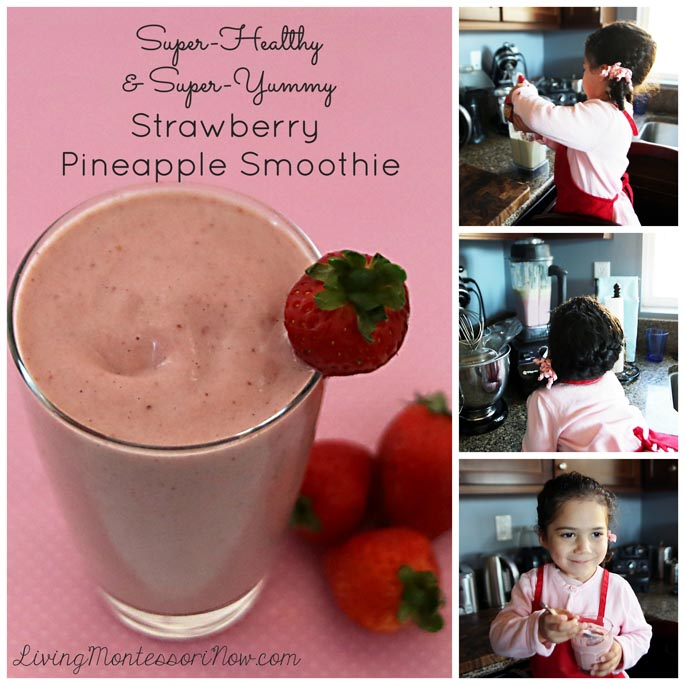 Kids' Kitchen: Super-Healthy and Super-Yummy Strawberry Pineapple Smoothie