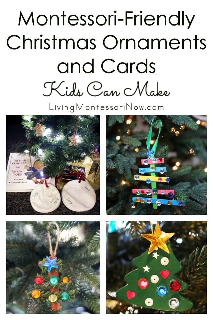 Montessori-Friendly Christmas Ornaments and Cards Kids Can Make