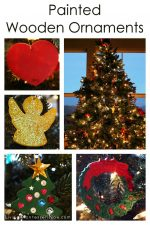 Montessori-Inspired Christmas Crafts – Painted Wooden Ornaments