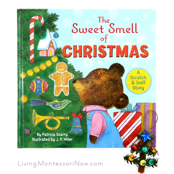 The Sweet Smell of Christmas Book with Cinnamon Stick Tree Ornament