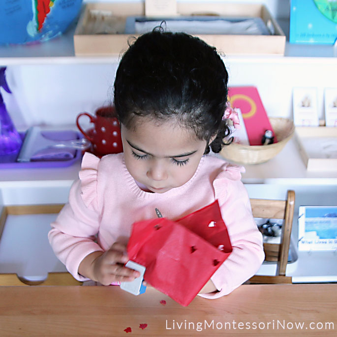 Using Christmas Craft Punch to Punch Holes in Tissue Paper