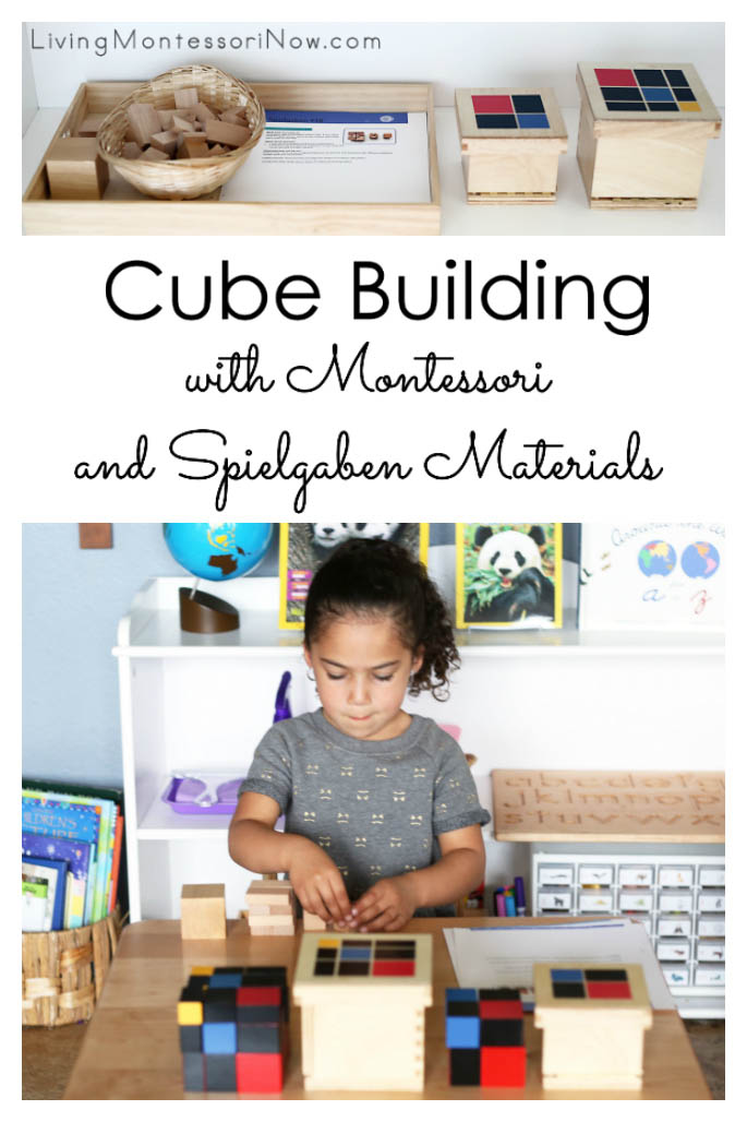 Cube Building with Montessori and Spielgaben Materials
