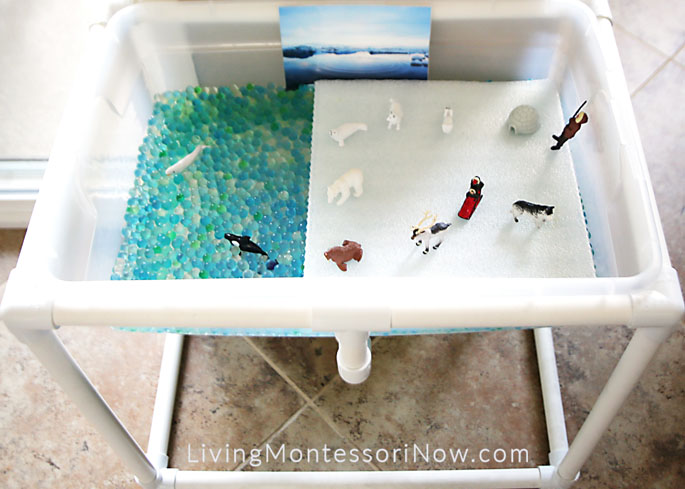 DIY Arctic Sensory Table