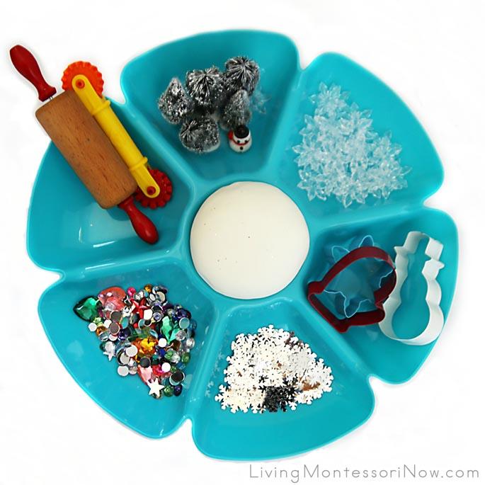 Winter Playdough Tray