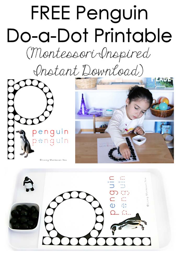 FREE Penguin Do-a-Dot Printable (Montessori-Inspired Instant Download)