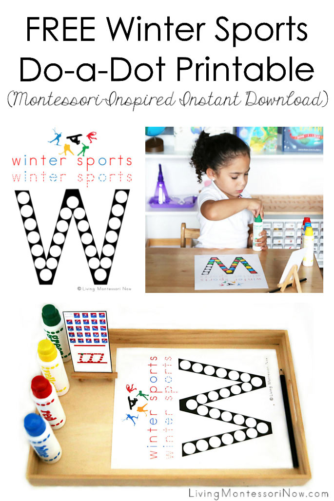 Free Winter Sports Do-a-Dot Printable (Montessori-Inspired Instant Download)
