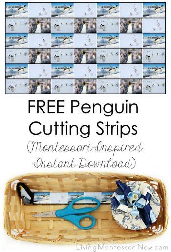Free Penguin Cutting Strips