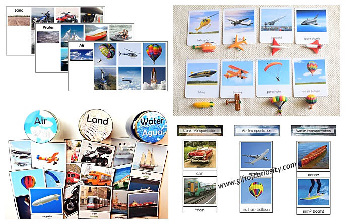 Land, Air, and Water Transportation Printables
