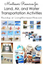 Montessori Resources for Land, Air, and Water Transportation Activities
