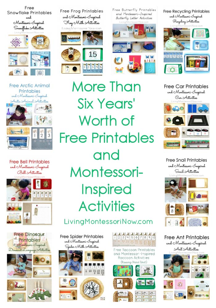 More Than Six Years' Worth of Free Printables and Montessori-Inspired Activities