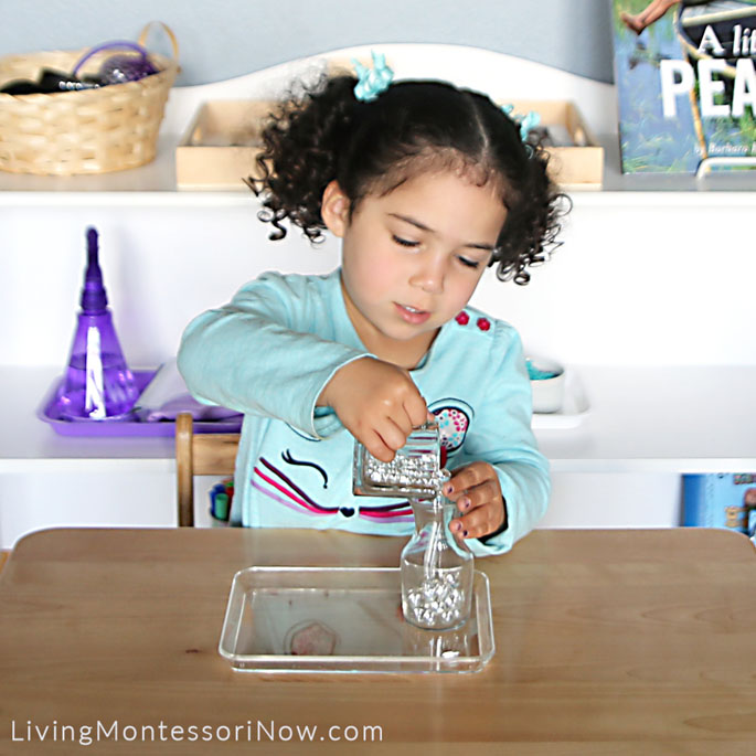 Pouring Glass Marbles