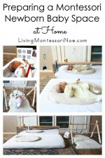 Preparing a Montessori Newborn Baby Space at Home