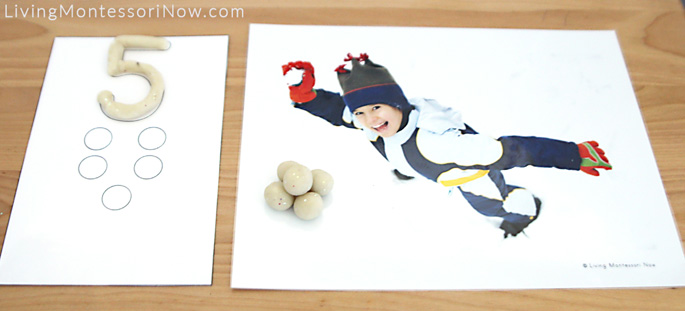 Snowball Playdough Counting Mats