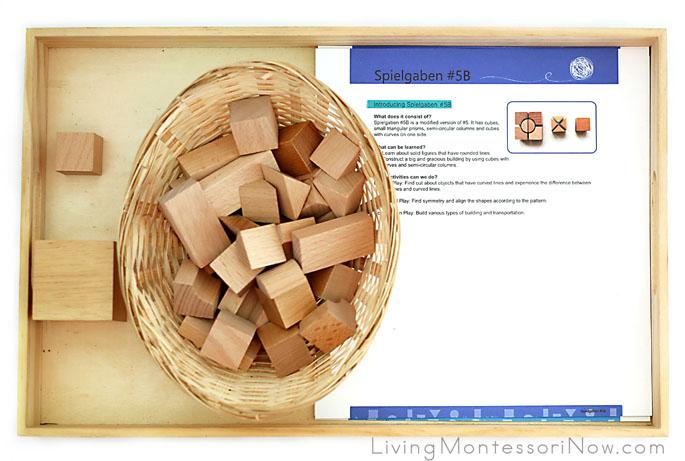 Spielgaben Cube-Building Tray