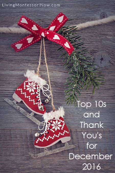 Top 10s and Thank You's for December 2016