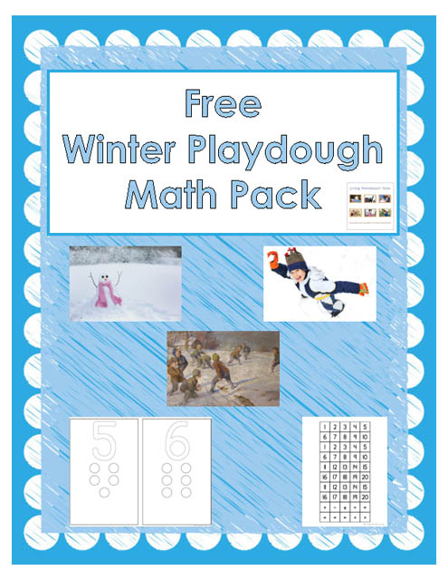 Free Winter Playdough Math Pack (Montessori-Inspired Instant Download) – Montessori Monday