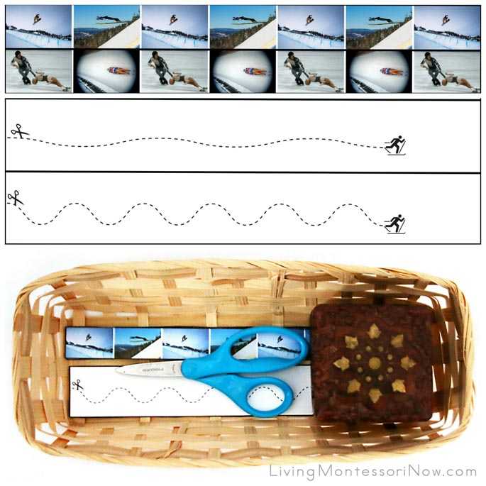 Winter Sports Cutting Strips with Basket