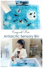 Easy and Fun Antarctic Sensory Bin for Winter or Summer
